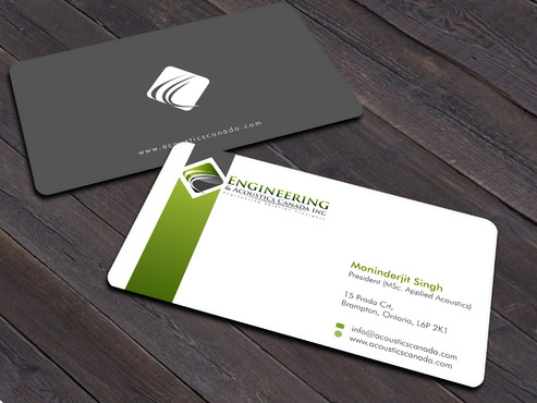 Engineering & Acoustics Canada Inc. Business Cards and Stationery  Draft # 24 by Xpert