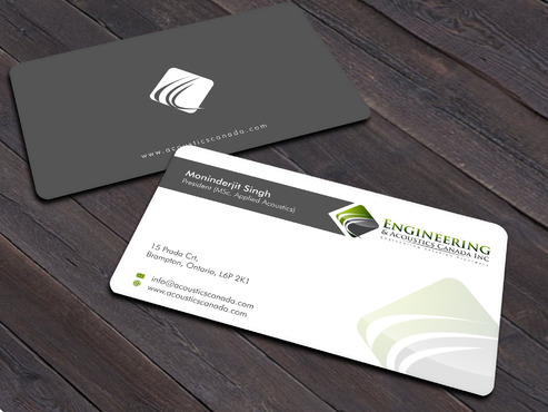 Engineering & Acoustics Canada Inc. Business Cards and Stationery  Draft # 26 by Xpert