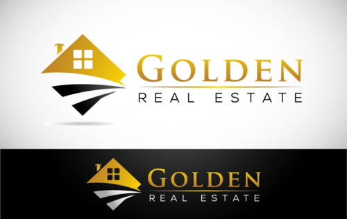 Golden Real Estate Logo Winning Design by Stardesigns