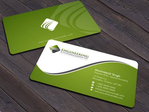 Engineering & Acoustics Canada Inc. Business Cards and Stationery  Draft # 30 by Xpert