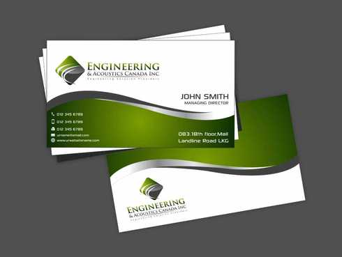 Engineering & Acoustics Canada Inc. Business Cards and Stationery  Draft # 216 by Dawson
