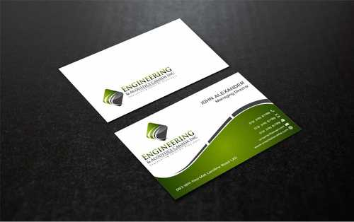 Engineering & Acoustics Canada Inc. Business Cards and Stationery  Draft # 234 by Dawson
