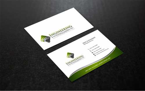 Engineering & Acoustics Canada Inc. Business Cards and Stationery  Draft # 235 by Dawson