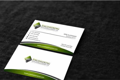 Engineering & Acoustics Canada Inc. Business Cards and Stationery  Draft # 236 by Dawson