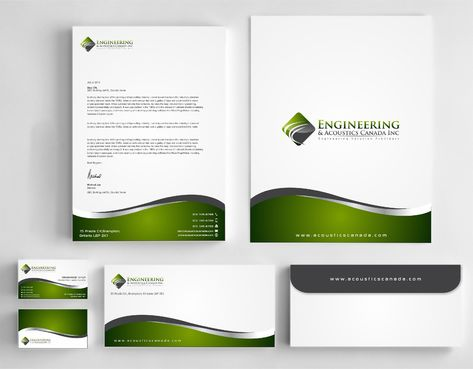 Engineering & Acoustics Canada Inc. Business Cards and Stationery  Draft # 253 by Dawson