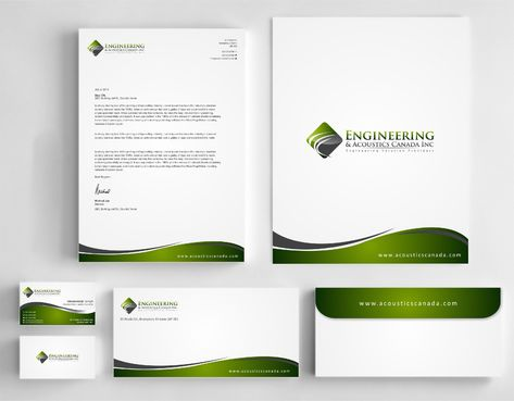 Engineering & Acoustics Canada Inc. Business Cards and Stationery  Draft # 254 by Dawson