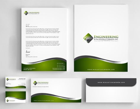 Engineering & Acoustics Canada Inc. Business Cards and Stationery  Draft # 255 by Dawson
