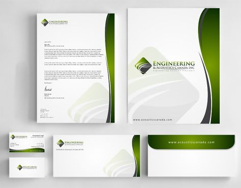 Engineering & Acoustics Canada Inc. Business Cards and Stationery  Draft # 256 by Dawson