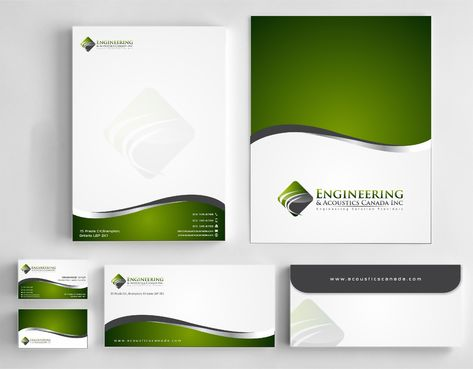 Engineering & Acoustics Canada Inc. Business Cards and Stationery  Draft # 257 by Dawson