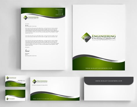 Engineering & Acoustics Canada Inc. Business Cards and Stationery  Draft # 266 by Dawson