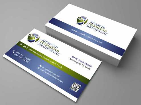 Advanced Ultrasound Solutions Business Cards and Stationery  Draft # 123 by Dawson