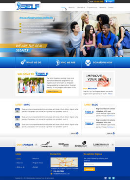 Skills Elevation Learning Force Blog Design Template Winning Design by 4bdesign