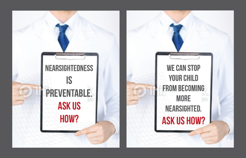 Nearsightedness is preventable.  Ask us how. Marketing collateral  Draft # 7 by Achiver