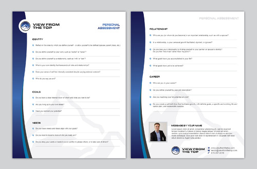 "Document of your ""Personal Assessment"" Marketing collateral  Draft # 21 by Achiver"