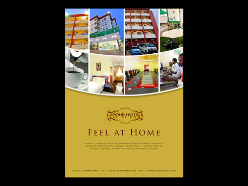 Advert design for hotel Marketing collateral  Draft # 8 by Abdul700