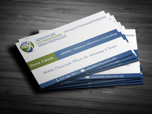 Advanced Ultrasound Solutions Business Cards and Stationery  Draft # 196 by spsolutionplus