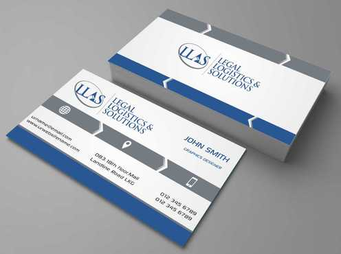 Legal Logistics & Solutions, Inc. Business Cards and Stationery  Draft # 123 by Dawson