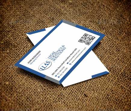 Legal Logistics & Solutions, Inc. Business Cards and Stationery  Draft # 131 by Dawson