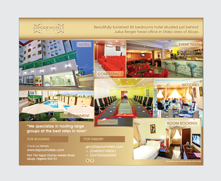 Advert design for hotel