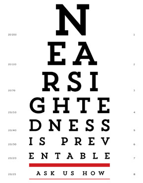 Nearsightedness is preventable.  Ask us how. Marketing collateral  Draft # 19 by fhipu
