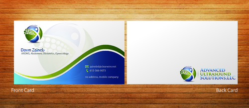 Advanced Ultrasound Solutions Business Cards and Stationery  Draft # 201 by 14stars