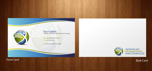 Advanced Ultrasound Solutions Business Cards and Stationery  Draft # 202 by 14stars
