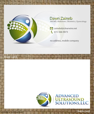 Advanced Ultrasound Solutions Business Cards and Stationery  Draft # 205 by 14stars