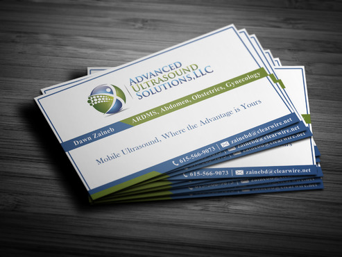 Advanced Ultrasound Solutions Business Cards and Stationery  Draft # 213 by spsolutionplus