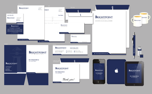 Brightpoint Financial Business Cards and Stationery  Draft # 228 by Achiver