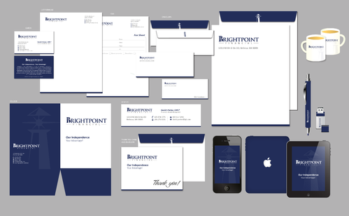 Brightpoint Financial Business Cards and Stationery  Draft # 229 by Achiver