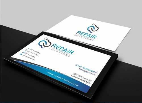 Repair Solutions Business Cards and Stationery  Draft # 77 by Dawson
