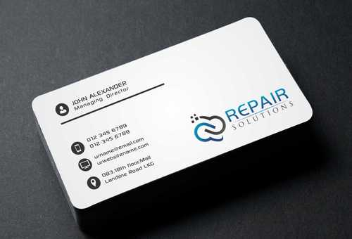 Repair Solutions Business Cards and Stationery  Draft # 171 by Dawson