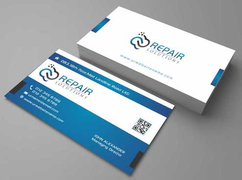 Repair Solutions Business Cards and Stationery  Draft # 173 by Dawson