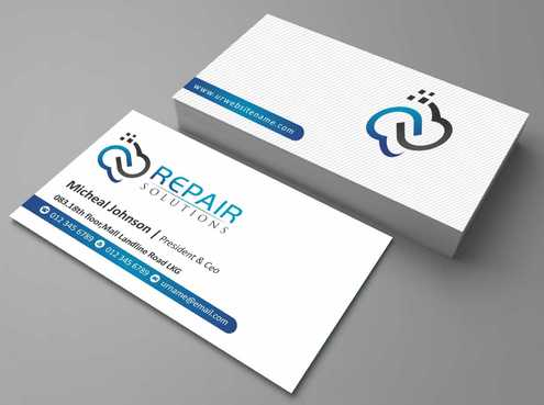 Repair Solutions Business Cards and Stationery  Draft # 190 by Dawson