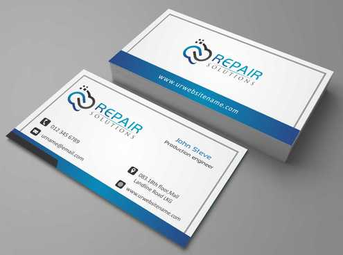 Repair Solutions Business Cards and Stationery  Draft # 193 by Dawson