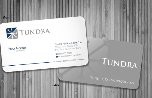 TUNDRA SA Business Card Business Cards and Stationery  Draft # 28 by sevensky