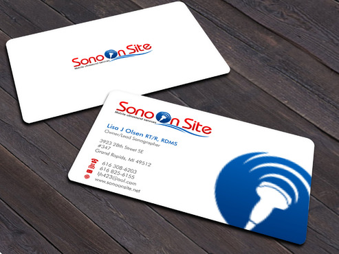 Sono On Site Business Cards and Stationery  Draft # 3 by Xpert