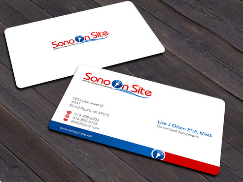 Sono On Site Business Cards and Stationery  Draft # 4 by Xpert