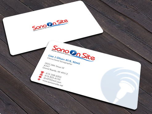 Sono On Site Business Cards and Stationery  Draft # 6 by Xpert