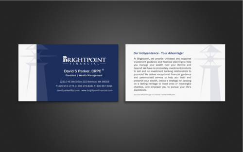 Brightpoint Financial Business Cards and Stationery Winning Design by einsanimation