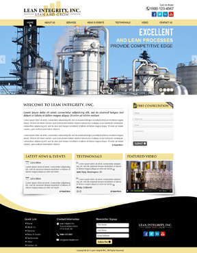 Website for a Lean company Complete Web Design Solution  Draft # 2 by mycrodesigns