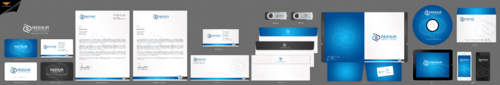 Repair Solutions Business Cards and Stationery Winning Design by einsanimation