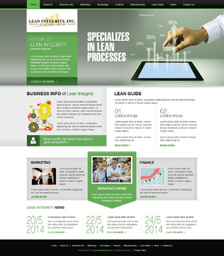 Website for a Lean company Complete Web Design Solution  Draft # 3 by timefortheweb