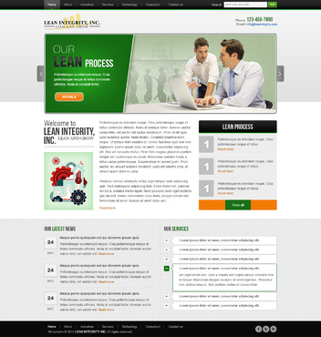 Website for a Lean company Complete Web Design Solution  Draft # 4 by timefortheweb