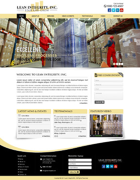 Website for a Lean company Complete Web Design Solution  Draft # 10 by mycrodesigns