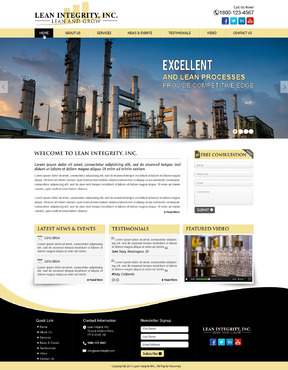 Website for a Lean company Complete Web Design Solution  Draft # 12 by mycrodesigns