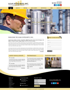 Website for a Lean company Complete Web Design Solution  Draft # 13 by mycrodesigns