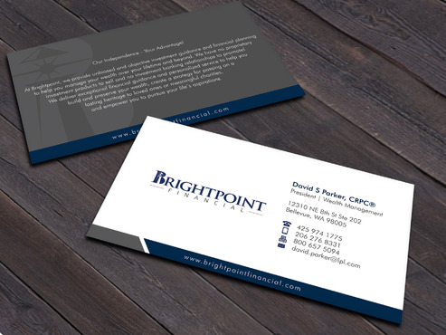 Brightpoint Financial Business Cards and Stationery  Draft # 253 by Xpert