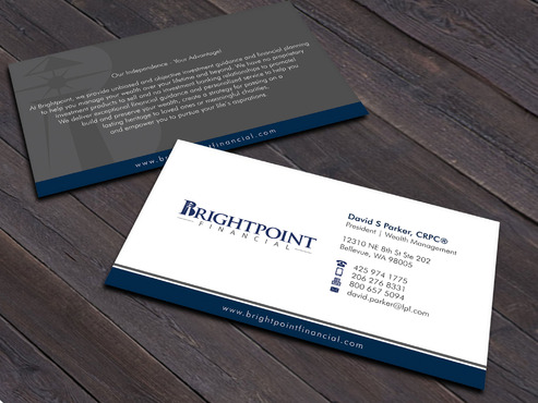Brightpoint Financial Business Cards and Stationery  Draft # 254 by Xpert