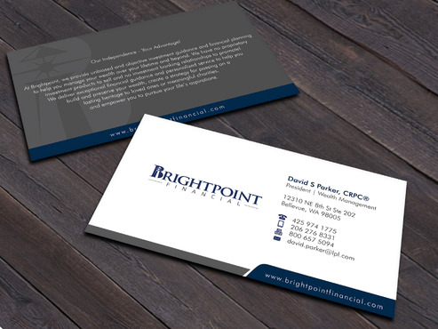 Brightpoint Financial Business Cards and Stationery  Draft # 256 by Xpert